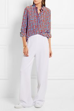 Stella McCartney | Wilson printed silk crepe de chine shirt | NET-A-PORTER.COM
