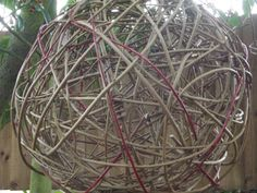 Willow Sphere Ball Garden Ornament Indoor or by Willowbarns