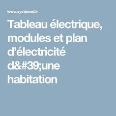 Tableau électrique, modules et plan d'électricité d'une habitation