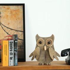 Decoración animal de madera de época Arte Reciclado de madera y Orgánica