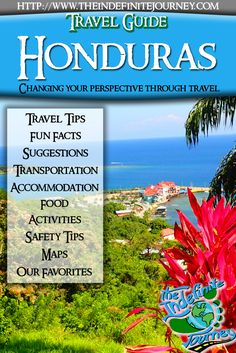 Join the Indefinite Journey for Free and receive this travel guide and more resources to make you travel easier! Honduras is a Central American country with Caribbean Sea coastlines to the north and the Pacific Ocean to the south. In the tropical rainforest near Guatemala, the ancient Mayan ceremonial site Copán has stone-carved hieroglyphics and stelae, tall stone monuments. In the Caribbean Sea are the Bay Islands, a diving destination that's part of the 1,000km-long reef system.