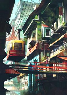 Lovely Illustrations Of Cityscapes Inspired By Southeast Asia - DesignTAXI.com