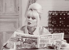 GIPHY is your top source for the best & newest GIFs & Animated Stickers online. Find everything from funny GIFs, reaction GIFs, unique GIFs and more. Absolutely Fabulous Quotes, Im Fabulous, Haha Funny, Hilarious, Patsy Stone, Joanna Lumley, Comedy Actors, Ab Fab, British Comedy