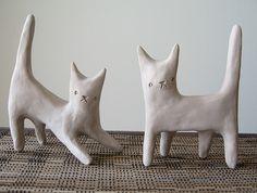 <3 //// little clay kitties