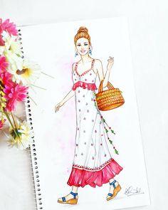 396 Likes, 20 Comments - Dipti Patel Fashion Illustration Tutorial, Dress Illustration, Fashion Illustration Dresses, Fashion Design Sketchbook, Fashion Design Drawings, Fashion Sketches, Croquis Fashion, Fashion Drawing Dresses, Dress Sketches