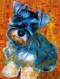 Mini schnauzer art.  Could be a DIY with use of photowow.com