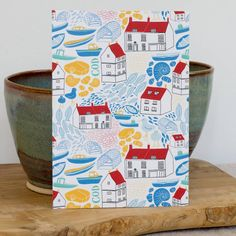 Yorkshire Coast postcard and envelope six pack by Moira Fuller   notonthehighstreet.com