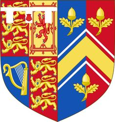 Arms of Catherine, Duchess of Cambridge. The arms on the right are those of her father. Kate Middleton Hats, Medieval Shields, Order Of The Garter, Mighty Oaks, Illumination Art, Banner, Shield Design, Gold Chevron, Prince William And Kate