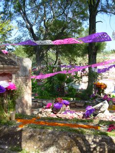 Cemetery in San Miguel decorated for All Saint's Day.