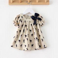 Cheap Girls Summer Casual vestido de ciervos de impresión de la marca de marca…
