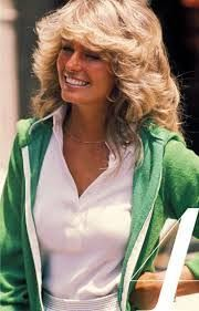 Farrah Fawcett.  From a Pinterest board created by, George Vreeland Hill.