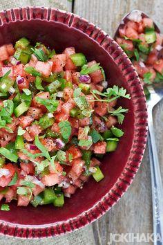 Ruokablogi   Valokuvablogi   Jokihaka kokkaa: Vesimeloni - salsa