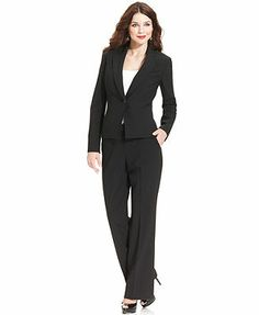 0dbd3ee1640 Anne Klein Petite Tropical Wool-Blend Suit Separates Collection Petites -  Wear to Work - Macy s