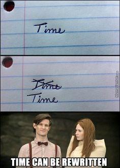 Time can be rewritten. :D
