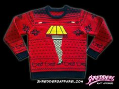 Holiday Sweaters With Bigfoot, Krampus, the 'Christmas Story' Leg Lamp, and More