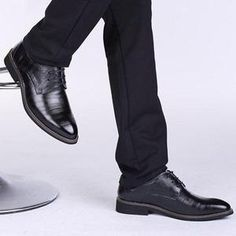 c6c513bd03f Men Color Match Formal Business Lace Up Shoes