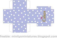 Minilys Miniatures: Imprimible Cajas Miniature Cakes