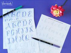 Free Brush Calligraphy Practice Worksheets | dawnnicoledesigns.com