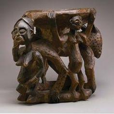 Bamileke peoples TITLE Royal Stool (Kuo) Royal Stool, Kuo DATE 1800–1860 MEDIUM Wood DIMENSIONS 19 1/2 x 24 3/4 x 16 in. (49.5 x 62.9 x 40.6 cm)  MFAH | The Museum of Fine Arts, Houston