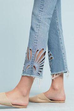 Jeans com corte a laser