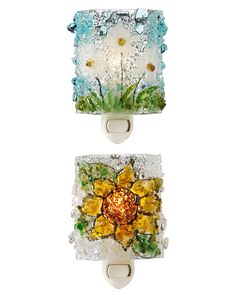 How Does Your Garden Glow?  A brilliant approach to conservation, these beautifully handmade, secret garden night lights are fused from recycled glass bottles rescued before reaching the landfill. Handmade in Cape Coral, Florida by Vawn and Mike Gray.