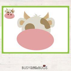 Farm Animal Playdough Mats AUTOMATIC von BusyLittleBugsShop