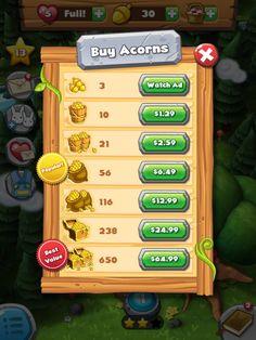Forest Home | IAP Shop| UI, HUD, User Interface, Game Art, GUI, iOS, Apps, Games, Grahic Desgin, Puzzle Game, Maze Games, Brain Games | www.girlvsgui.com
