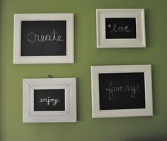 I've had frames from a garage sale to antique....maybe add some chalkboard??