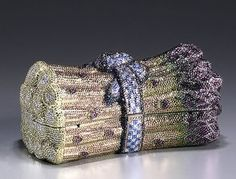 Judith Leiber does asparagus Evening Bags, Evening Clutches, In Season Produce, Beaded Purses, Judith Leiber, Cute Bags, Crazy Shoes, Handbag Accessories, Clutch Bag