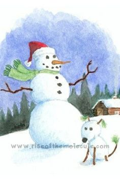 Inexpensive hand-painted Christmas cards!