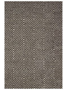 Love this black and white twill rug