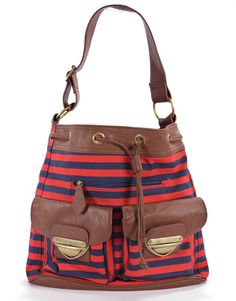 Large Red & Blue Striped Bueno Bag, Large & Roomy  http://stores.ebay.com/theanothercorner/