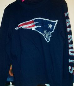New England  Patriots Youth Xs Long Sleeve Tshirt By Majestic from  14.99  Football Outfits c1ef45ab4