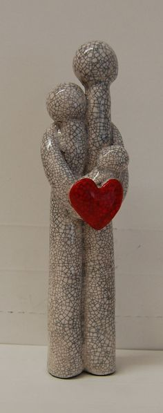Perfect Love unique ceramic figures by MartinONeillceramics, £25.00   www.facebook.com/martinoneill15.