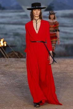 Red dresses for summer | Christian Dior Spring/Summer 2018 Resort Collection | British Vogue