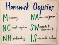 Making Grading Faster: Homework Oopsies