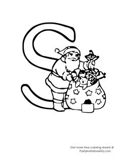 Alphabet Coloring Pages Christmas Learning English Free Printable Paper Learn