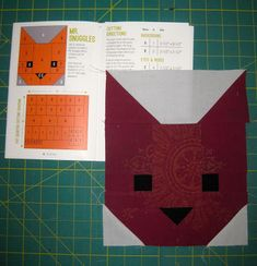 "I received Elizabeth Hartman's quilt pattern ""The Kittens"" for Christmas. Since made her Fancy Fox quilt before t..."