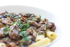 A delicious recipe for osso buco with mushroom sauce that melts in your mouth and is the taste of Italian comfort cooking. A real gem of a recipe!