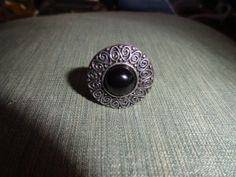 Unique Vintage Size 8 silver ring with by PhoenixVintageDesign, $17.95