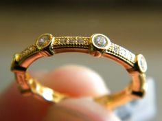 Lafonn yellow gold and CZ ring
