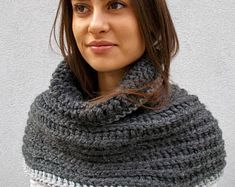 This item is unavailable Chunky Knit Scarves, Oversized Scarf, Crochet Scarves, Crochet Shawl, Hooded Scarf, Wool Scarf, Organza Bags, Womens Scarves, Aloe Vera