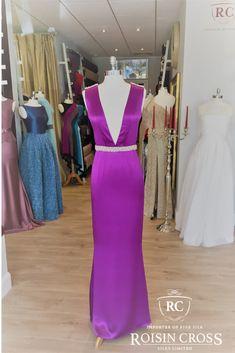 Silk Satin evening dress with beaded waist made at Roisin Cross Silks Dublin Silk Organza, Silk Crepe, Silk Chiffon, Silk Satin, Deb Dresses, Formal Dresses, Dress Making Patterns, Dressmaking, Dublin
