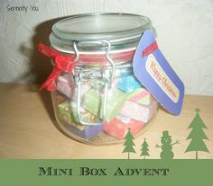 Mini Box advent Calendar Tutorial from @SerenityYou #Christmas #advent #box #mini #tutorial #crafts
