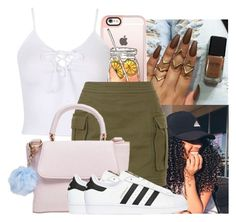 """""""Untitled #677"""" by kodakdej ❤ liked on Polyvore featuring Casetify, Balmain and adidas Originals"""