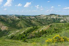 """The EmiliaRomagna landscape, or 'moonscape', near Brisighella"" by @AsgeirPedersen, via Flickr"