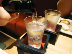 Sake  Sake is the most famous drink in Japan. It is the fermented beverage of rice and water which are usually drunk hot, and contains on average 18 to 20 percent alcohol.