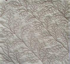 Lizzie Lenard Vintage Sewing: Free Motion Oak Leaves and Acorns