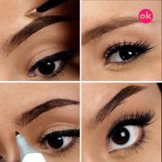4 Trucos para cejas perfectas The eyebrows are the frame of the face and making them look perfect an Eyebrow Makeup Tips, Makeup Tools, Beauty Makeup, Makeup Products, Hair And Makeup Tips, Makeup Ideas, Perfect Eyebrows, Skin Care Tips, Mascara
