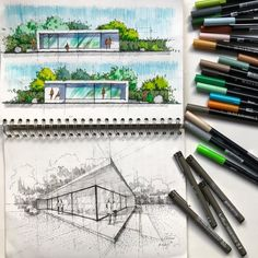 "18.1k Likes, 23 Comments - Architecture - Daily Sketches (@arch_more) on Instagram: ""By @mutonisketches #arch_more"""